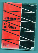 Aide-mémoire de la Télévision - P.Duru