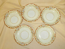 "LOT 5 Vintage 1930's NORITAKE China Dubarry 591 Fruit Dessert Bowl 5 1/4"" VGC"