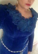 Enya Caribbean Blue Shepherd Moons Cosplay Costume Velvet Blue Dress
