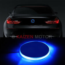1PC 82mm Ultra Blue Emblem LED Background Light for BMW 1 3 5 7 Series X3 X5 X6