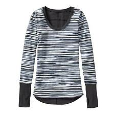 Athleta Radia Reversible Top,Granite grey painted stripe SIZE M     #930274 v728