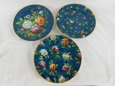 (3) Punch Studio Dutch Floral Dessert or Salad Plates SET of THREE 8""