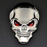 Auto Motorrad Aufkleber Logo 3D Skull Totenkopf Schädel Metall Emblem Sticker