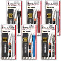 MINI MAGLITE LED PRO+ AA HANDHELD FLASHLIGHT 245 Lumens Work Light Various Color