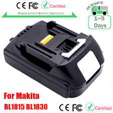 18V Lithium-Ion Battery For MAKITA BL1830 BL1815 BL1845 LXT 400 Compact Cordless