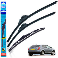 "Ssangyong Korando 2012-on wiper blades alca SUPER FLAT 24""16"" + rear 14""CLASSIC"