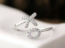 XO Ring Kiss and Hug Ring Tiny Crystal Infinite Love Best Friend Ring byrxo