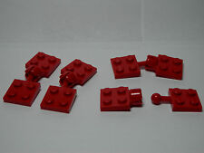 LEGO 4 New Ball and Joint Couplings 2X2 Complete Assembly Red Town Traffic 7-12