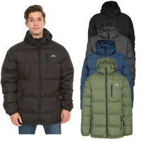 Trespass Clip Mens Warm Quilted Padded Puffer Jacket | Coat with Detachable Hood