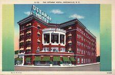 The Ottary Hotel Greenville, South Carolina SC - Old Vintage Linen Postcard