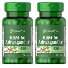 Ultimate Ashwagandha KSM-66 450mg 2X60 Caps Vegetarian Gluten Free