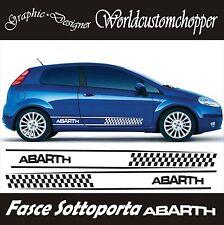 FASCE ADESIVE STICKERS SOTTO PORTA FIAT GRANDE PUNTO ABARTH AUTO TUNING