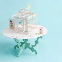 New Birdcage 3D   Cut Up Paper Crafts Display Greeting Cards Post Z6Q8