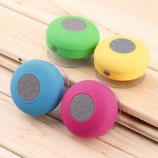 Waterproof Wireless Bluetooth Handsfree Mic Suction Speaker Shower Car IT