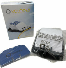 New Rolodex Rotary Business Office Card File Vtg Black 250 Card Amp Index Tabs Nos