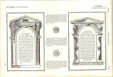 1862 abbaini sopra la costruzione del cornicione PHILIBERT DE l'orme SCUOLA FIAMMINGA OPERA D'ARTE
