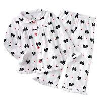 Carter's Bows Microfleece Pajama Set Size 4T NWT Toddler Girls