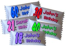 50 x Personalised Sweets 16th 18th 21st 30th 40th 50th 60th Party Favour