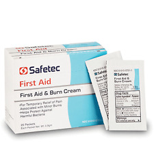 BOX of 25 FIRST AID AND BURN CREAM PACKETS
