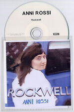 ANNI ROSSI Rockwell 2009 UK 10-track promo test CD 4AD