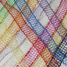 """1"""" Jute Window Pane Mesh Ribbon Trim - 25 yard roll Craft Sewing Floral Wedding"""