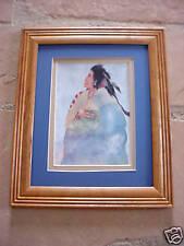 Carol Grigg GRANDFATHER CHEROKEE  framed MATTED Print
