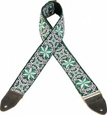 Levy's Guitar Strap JIMI HENDRIX Green Flowers VINTAGE Woven Levys M8HTV-11 Ace