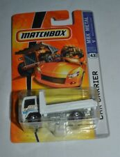 2008 MATCHBOX MBX METAL CAR CARRIER WHITE # 43
