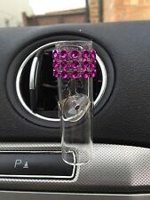 VW Voiture vase avec Fente d'aération à clip rose chaud design. tige disque vase en verre, VW vase style