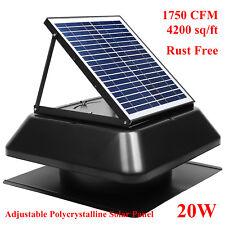 Solar Powered Exhaust Fan 1750CFM 4200 sq/ft Greenhouse Gable Mounted ventilator