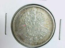VF to EF, 1 Mark 1882 G F. Vz /Silver/Empire/German Reich / J #9 KM#7