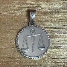 NEW Libra Sterling Silver Zodiac Pendant 925 Horoscope Charm S/S Astrology