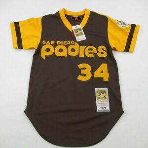 Rollie Fingers Autographed/Signed Jersey JSA COA San Diego Padres Small $250
