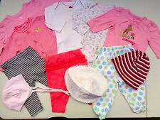 Lot of 11 Baby Girls Pants~Romper~Hats~jackets Size 0-3 3-6 M Carters Circo