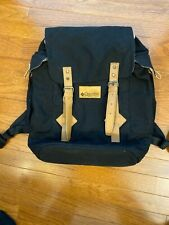 Vintage Columbia Canvas Leather Drawstring Bucket Backpack