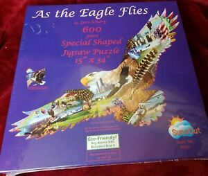 AS THE EAGLE FLIES by Lori Schory American Bald Eagle 600 Pc Puzzle NEW SEALED