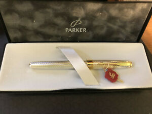 Parker Sonnet Fougere Roller Ball Pen - Sterling Silver & Gold(previously owned)