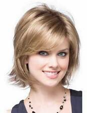 HESW50 pretty style short blonde mix  hair health wigs for modern women wig