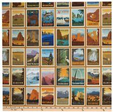 National Park Fabric Riley Blake Panel - Sand Background