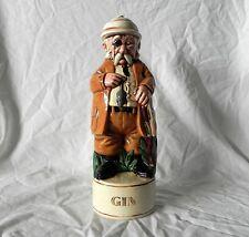 Vintage CERAMIC ENGLISH SAFARI MOUSE HUNTER FIGURE DECANTER GIN