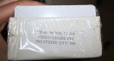 CR80.030 white PVC ID cards no stripe box of 500 white PP video grade cr8030