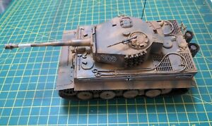 Tamiya 1:35 Tiger I  Mid Production  built and painted for display model kit