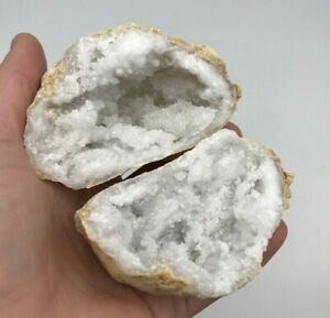 Quartz Geode Pair - High Grade Moroccan Quartz Crystal Geode (Random Pick)