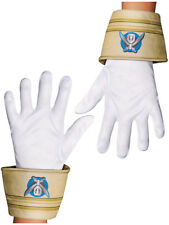 Child's Boys White Gold Disney Power Rangers Super Megaforce Costume Gloves