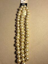 "Bead Landing Glass Pearl Strands Ivory - 21.75"""