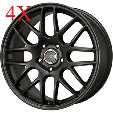 Drag Wheels DR-37 16x7 5x112 Flat Black Rims For Audi A4 A5 A6 TT Allrodad