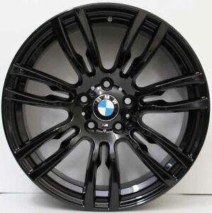 19 inch Genuine BMW 3 /4 SERIES F30  Motorsport wide pack alloy Wheels in BLACK