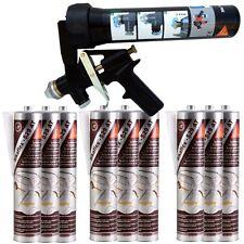 Spraygun Pistole Unterbodenschutz Klebe Dichtmasse + 9 Kartuschen Sikaflex 529AT