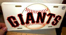 San Francisco Giants MLB baseball team embossed metal License Plate, embossed