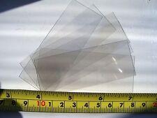 10 x finestra trasparente in plastica per Artigianato Modellismo in VETRO di ricambio Kit Militare